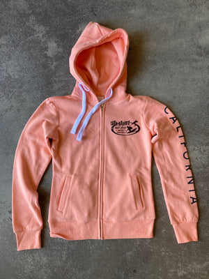 15th St Women's Since 61 Zip Up Fleece Peach