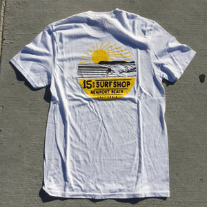 15th St Men's Sunset 2 Tone Short Sleeve T-Shirt