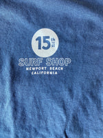 "15th St Men's Wedge Mel ""Lip Service""  Short Sleeve T-Shirt Vintage Navy"