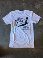 15th St Men's We're Glad To See You're Back Short Sleeve T-Shirt White