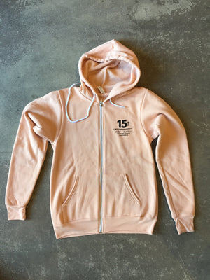 15th St Men's Glad To See You're Back Zip Hooded  Fleece