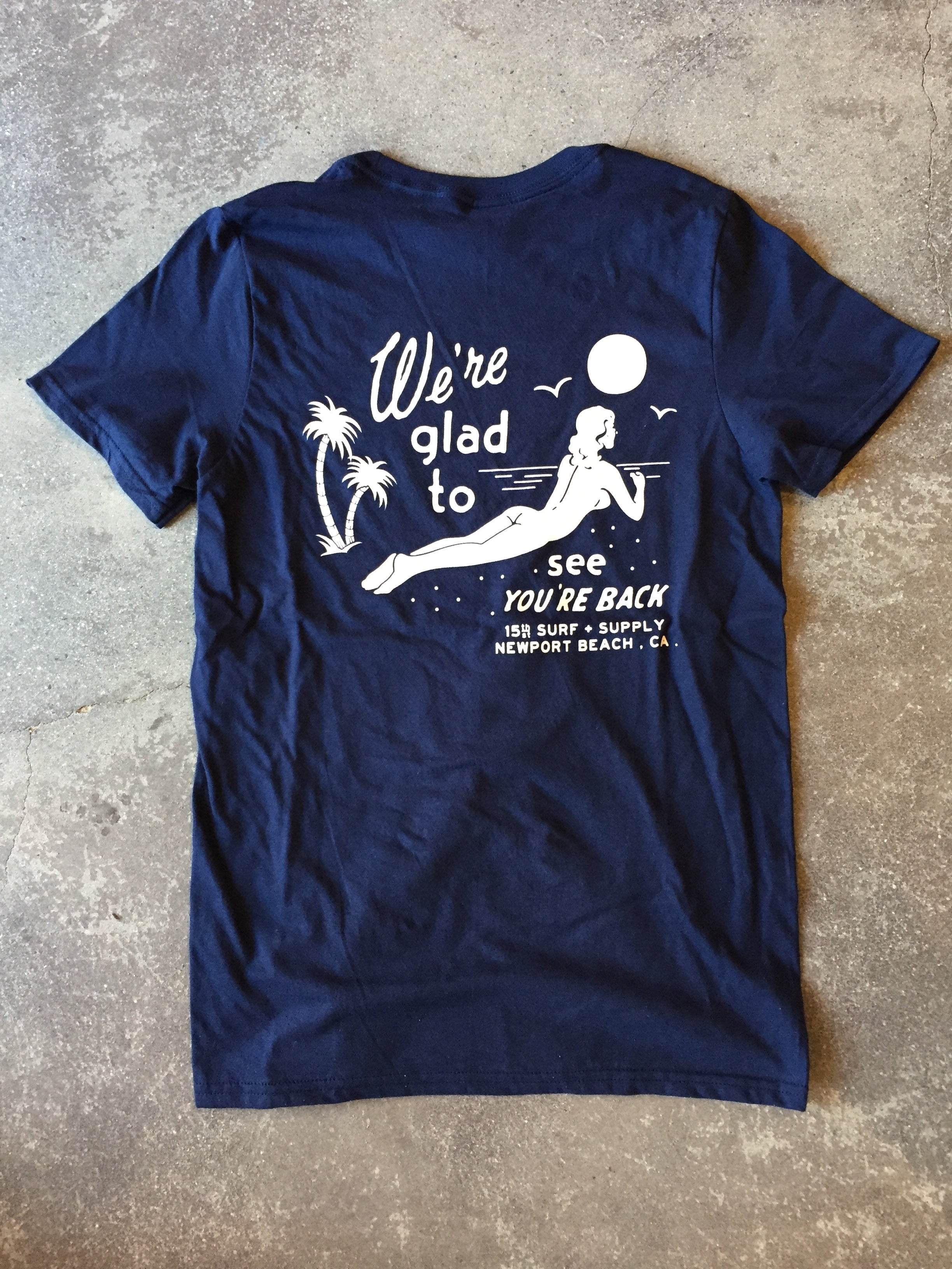 15th St Men's We're Glad To See You're Back Short Sleeve T-Shirt NAVY
