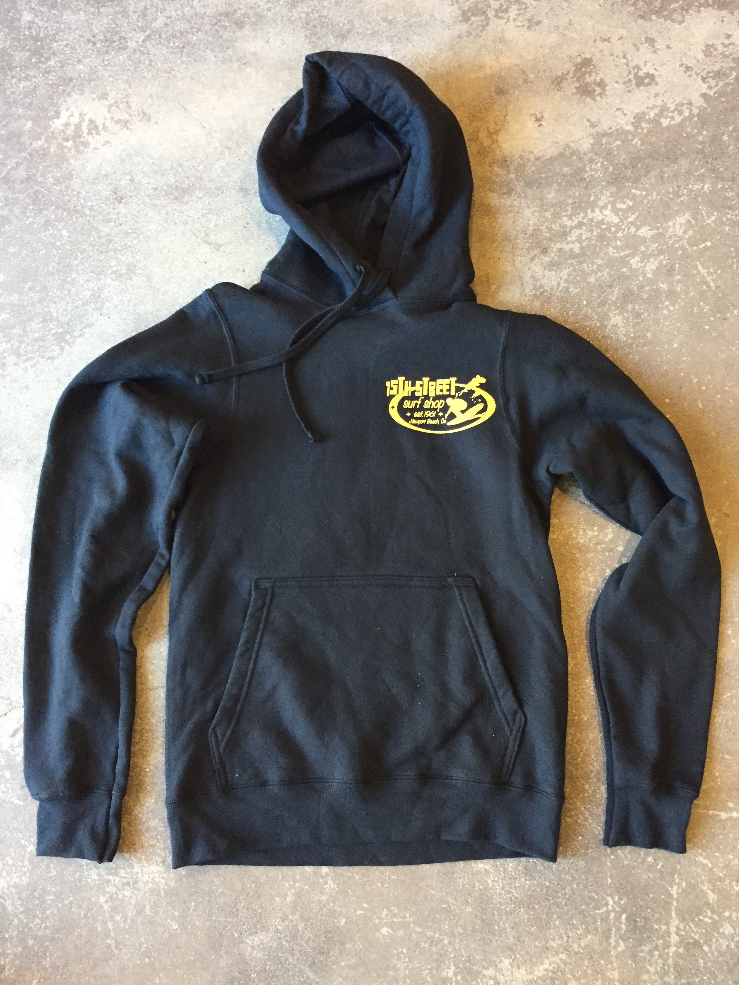 15th St Men's Since 61 Hooded Pullover Fleece BLACK