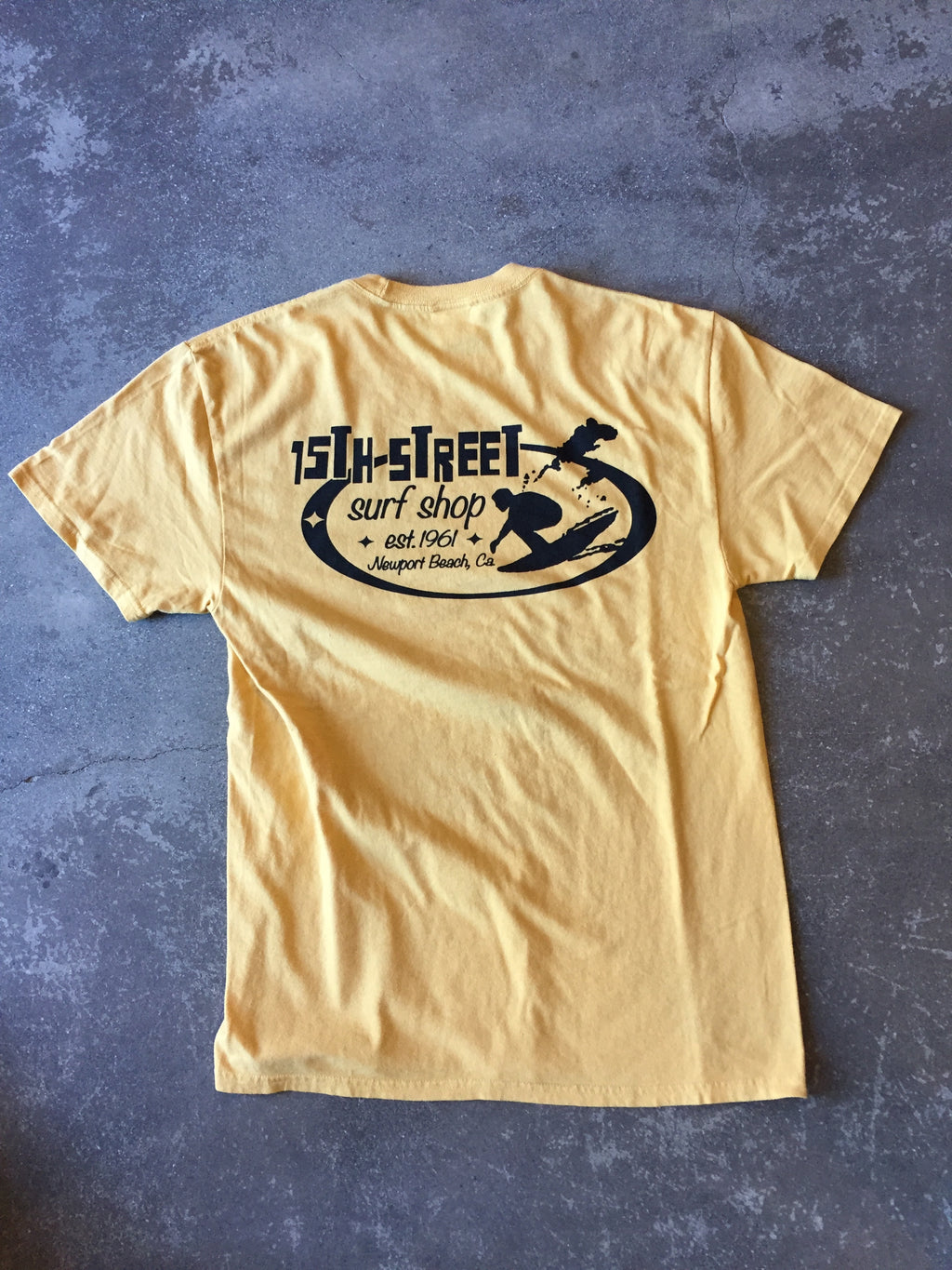 15th St Men's Since 1961 Short Sleeve T-Shirt GOLD MUSTARD