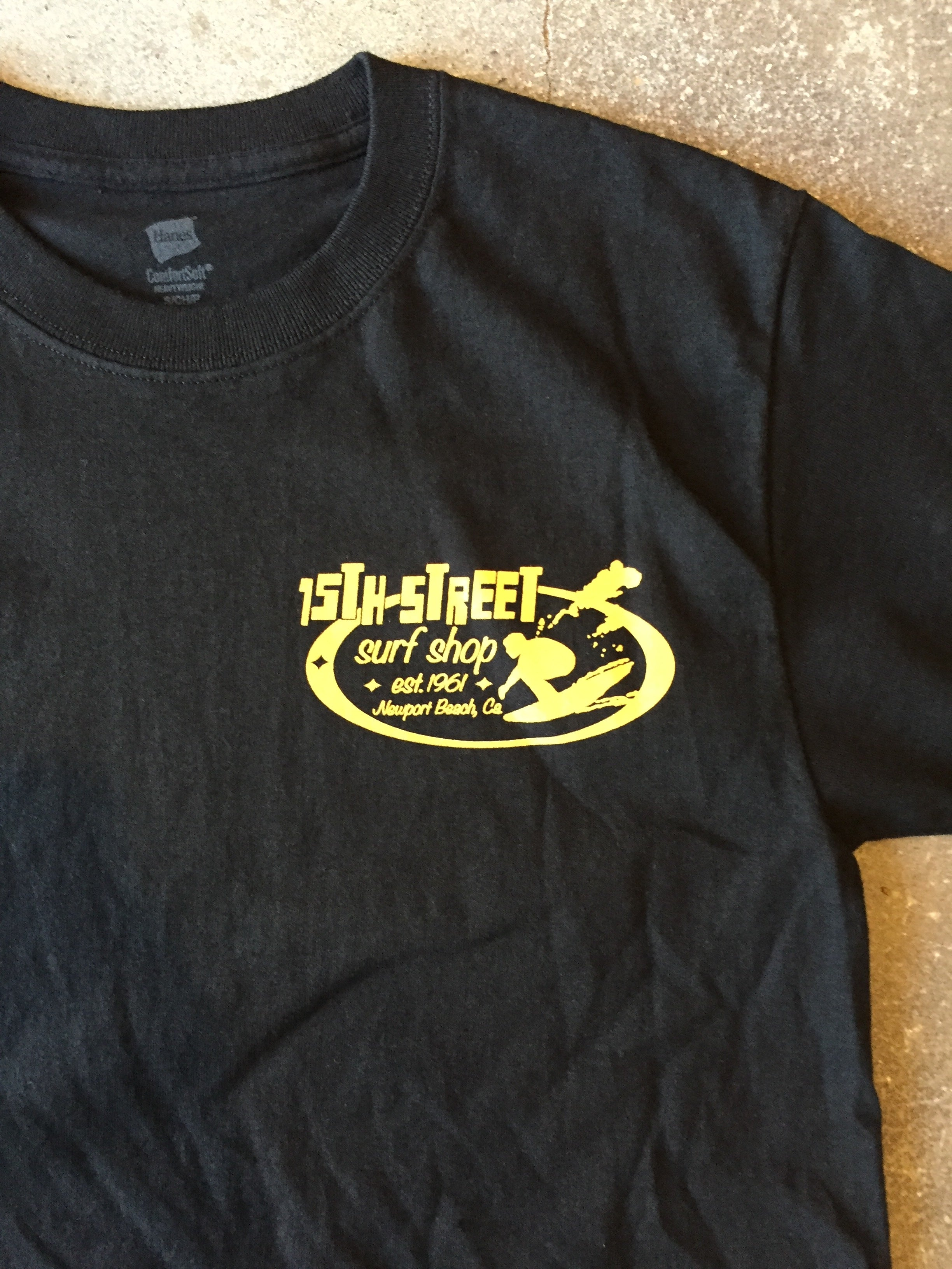15th St Men's Since 1961 Short Sleeve T-Shirt BLACK WITH GOLD