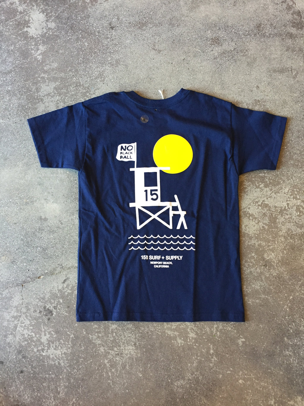 15th St Kids No Black Ball Short Sleeve T-Shirt NAVY