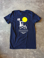 15th St Men's  No Black Ball Short Sleeve T-Shirt NAVY