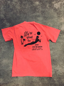 15th St Men's We're Glad To See You're Back Short Sleeve T-Shirt Vintage Red