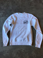15th St Men's Sunset Fleece WHITE with NEON POP