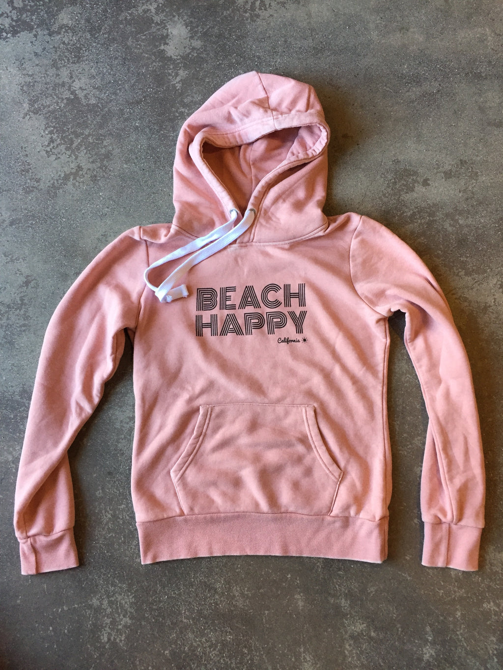 Beach Happy Pullover Sweatshirt PINK FADE
