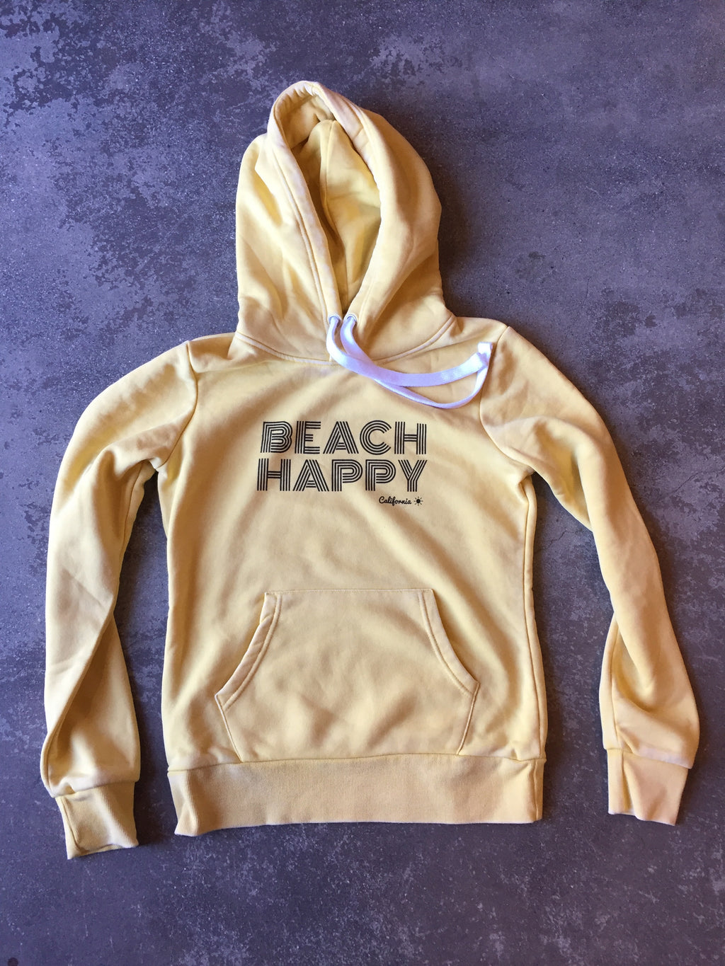 Beach Happy Pullover Sweatshirt SUNFLOWER FADE
