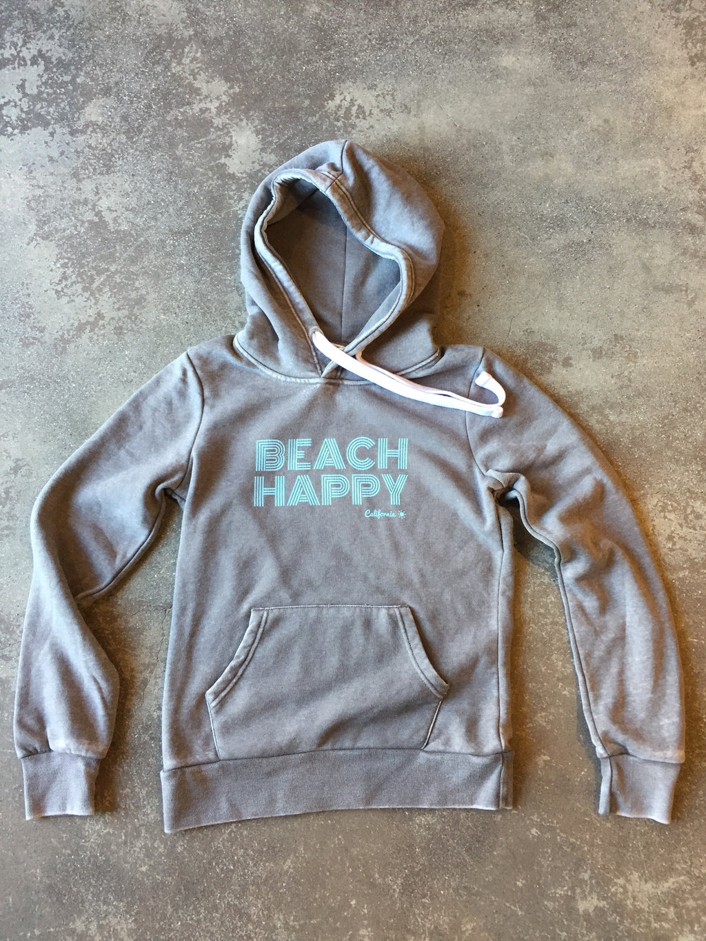 Beach Happy Pullover Sweatshirt SMOKE GREY HEATHER