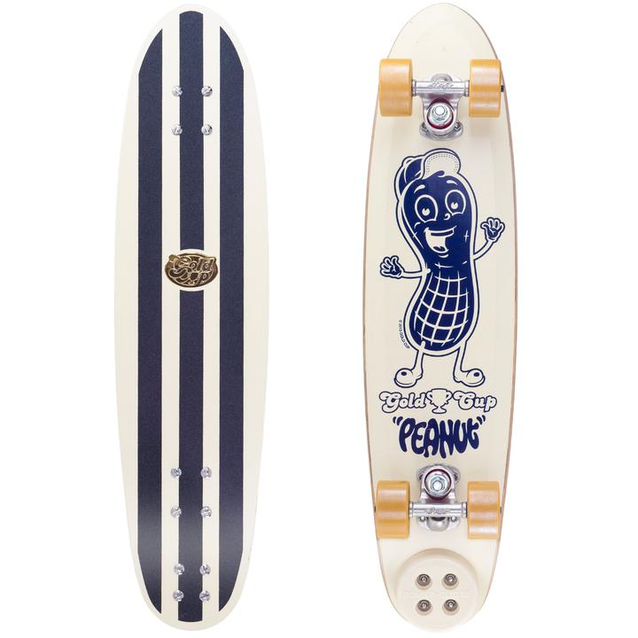 Gold Cup Peanut Skateboard WHITE