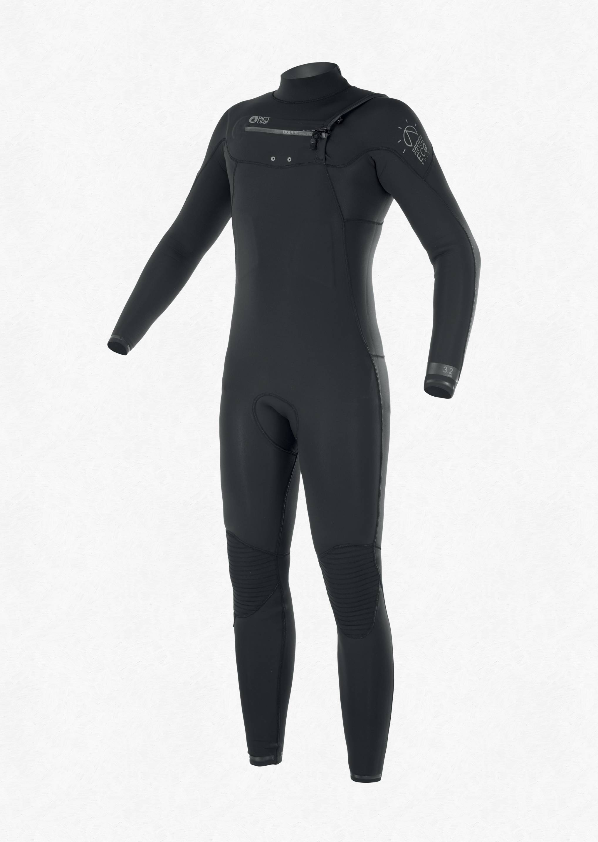 Picture Men's Equation 3/2 FZ Wetsuit BLACK