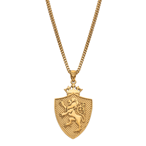 Royal Shield Necklace - Gold