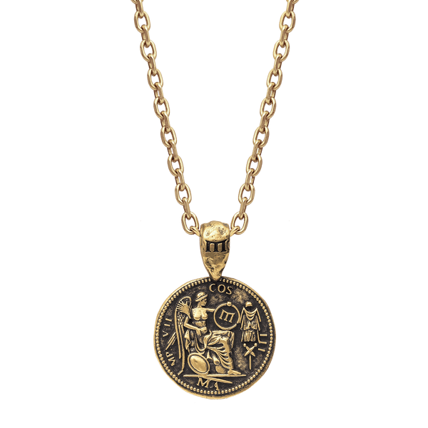 Marcus Aurelius Necklace - Ancient Gold
