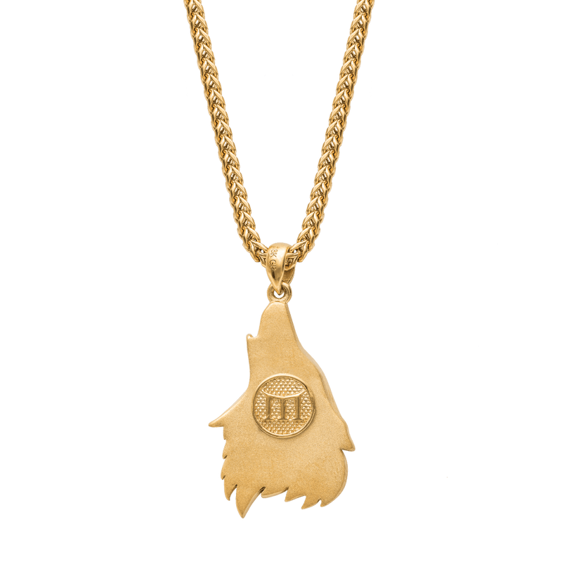 Wolf Necklace - Gold - Marcozo
