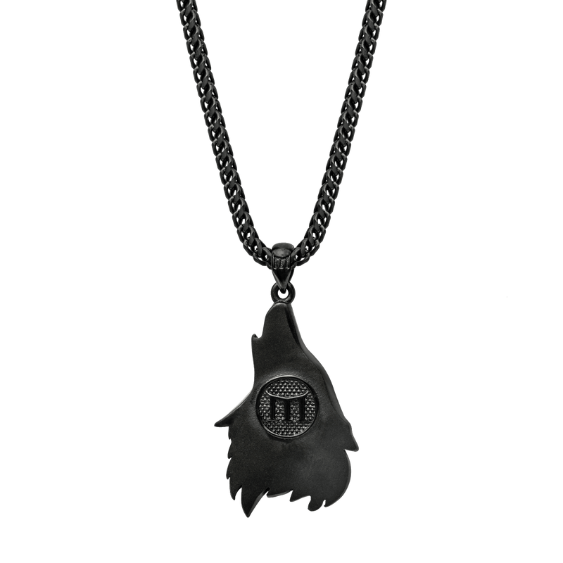 Wolf Necklace - Black - Marcozo