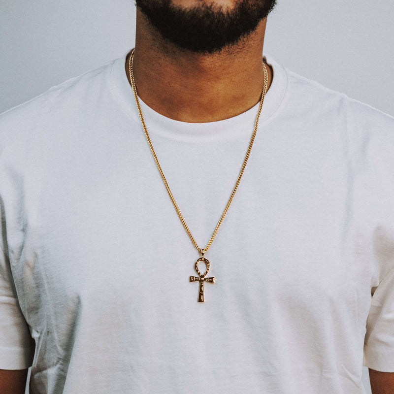 Ankh Necklace - Gold - Marcozo
