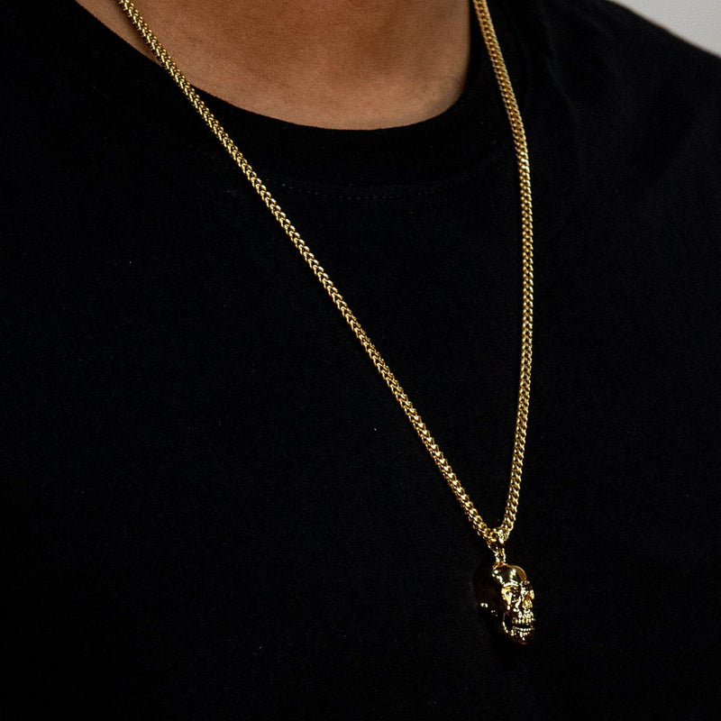 Skull Necklace - Gold - Marcozo