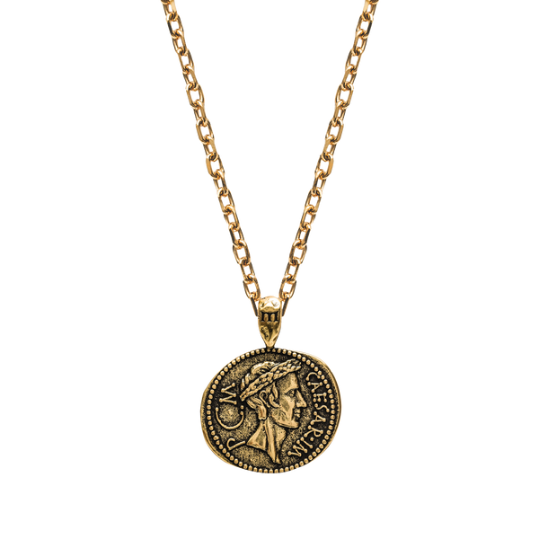 Julius Caesar Necklace - Ancient Gold - Marcozo