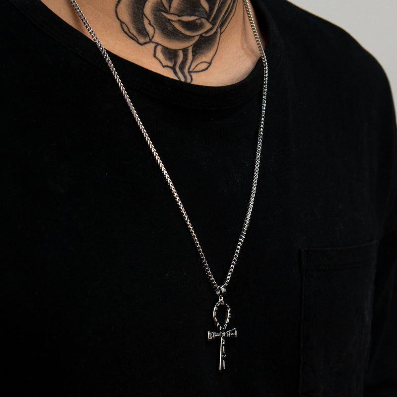 Ankh Necklace - White Gold - Marcozo