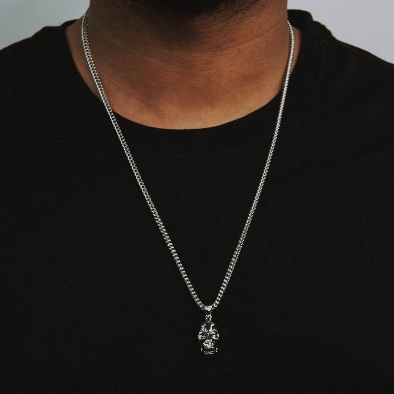 Skull Necklace - White Gold - Marcozo