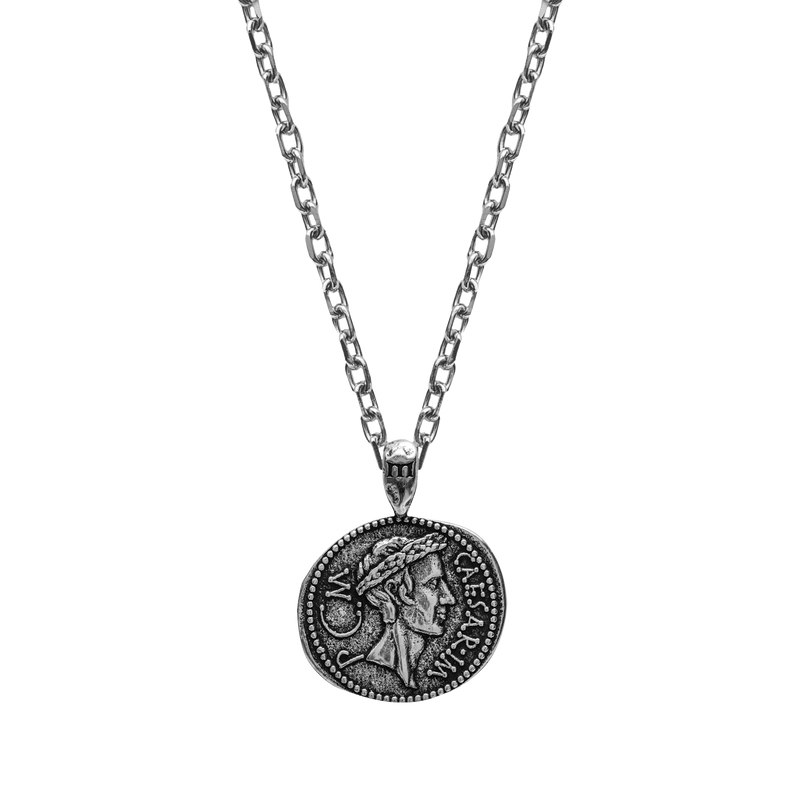 Julius Caesar Necklace - Ancient Silver - Marcozo