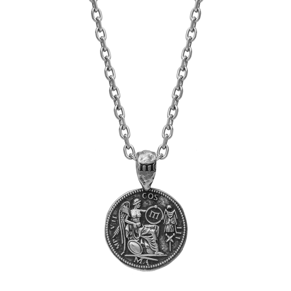 Marcus Aurelius Necklace - Ancient Silver
