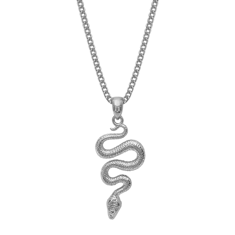 Serpent Necklace - White Gold