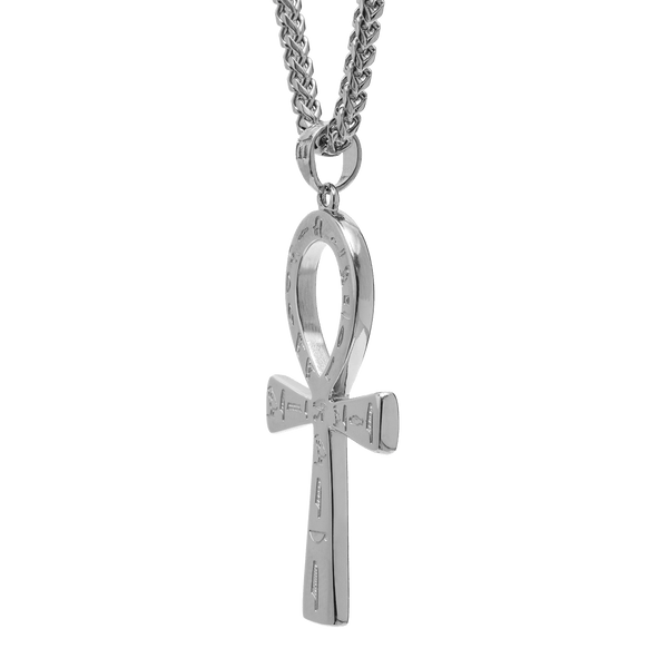 Ankh Necklace - White Gold