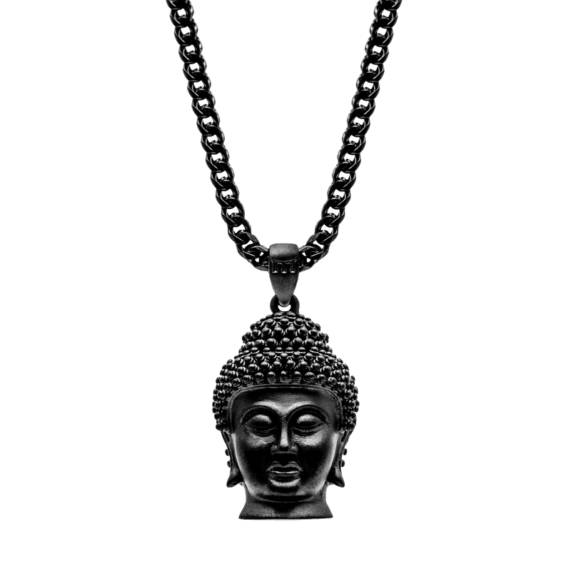 Buddha Necklace - Black - Marcozo