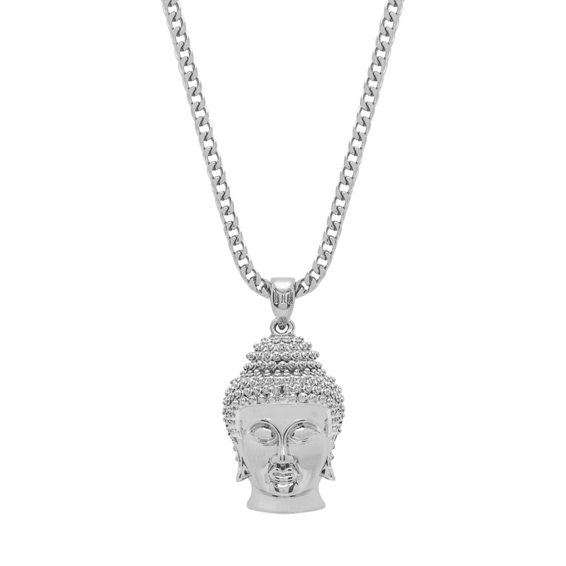 Buddha Necklace - White Gold - Marcozo