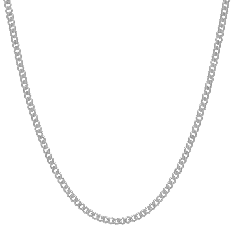 Cuban Link Chain - White Gold - Marcozo