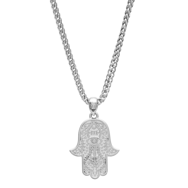 Hamsa Necklace - White Gold - Marcozo