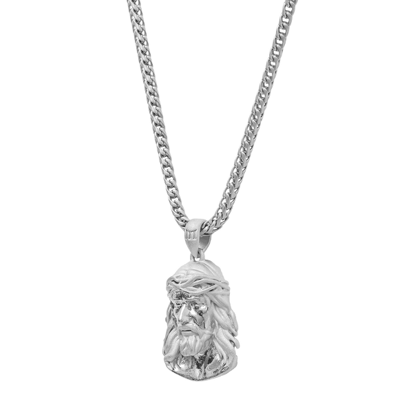 Jesus Necklace - White Gold - Marcozo