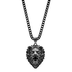 Lion Necklace - Black - Marcozo