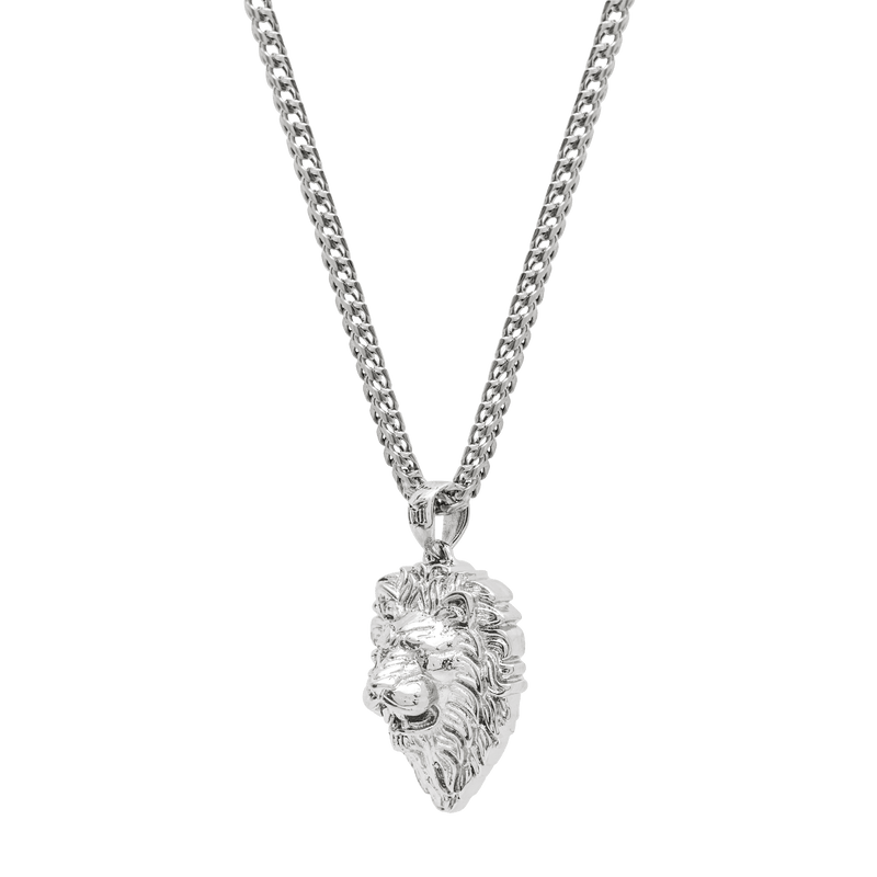 Lion Necklace - White Gold - Marcozo