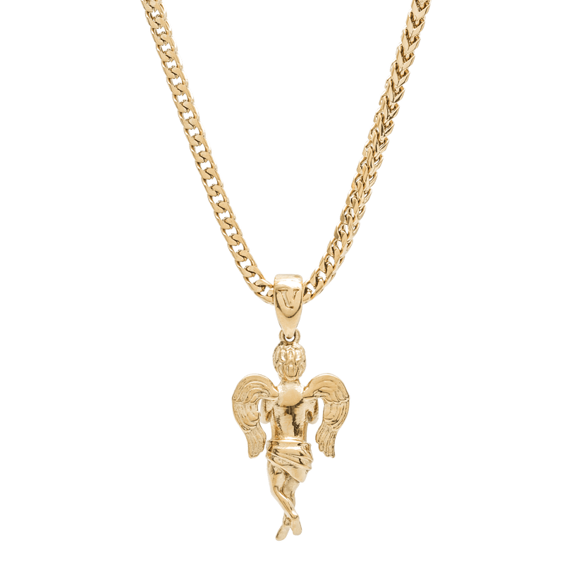 Micro Angel Necklace - Gold - Marcozo
