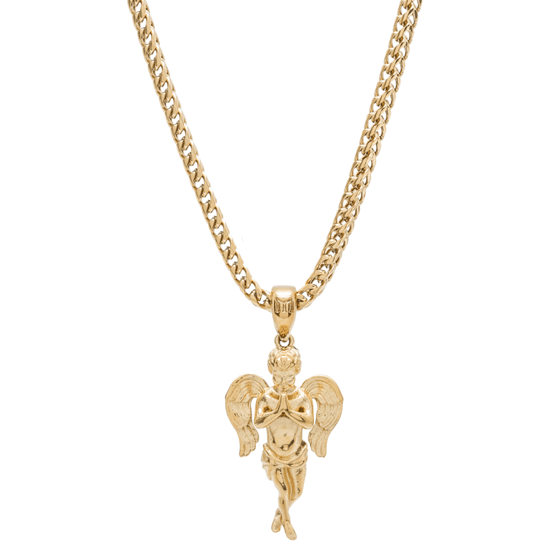 Micro Angel Necklace - Gold