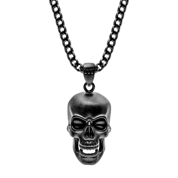 Skull Necklace - Black - Marcozo