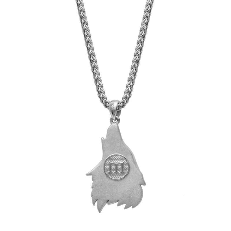 Wolf Necklace - White Gold - Marcozo