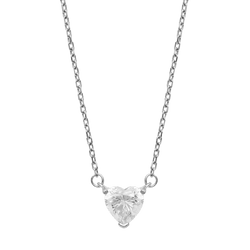 Heart Necklace - White Gold - Marcozo
