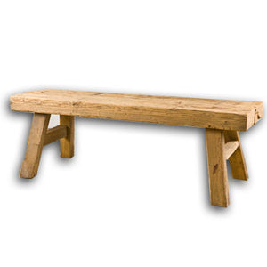 Rustic Natural Wood Bench
