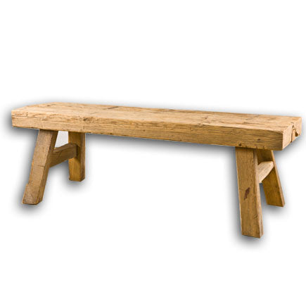 Natural Wood Bench Asian Accents
