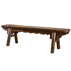Rustic A Frame Asian Bench