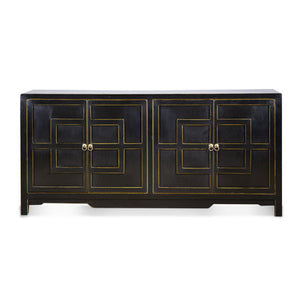 Key Cabinet 4 Door Black