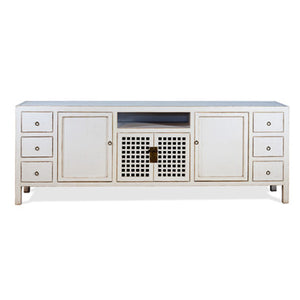 Antique White T.V. Cabinet #40906