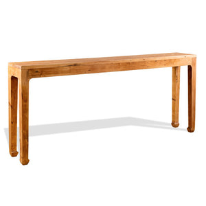 Rustic Natural Wood Console