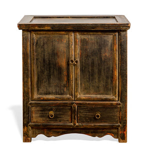 2 Drawer Distressed Nightstand or Side Table